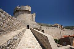 Fortificazione Minceta, Dubrovnik Fotografie Stock Libere da Diritti