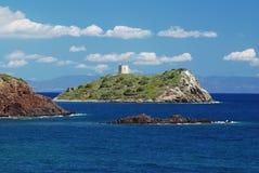 Fortificazione nel mare Fotografie Stock