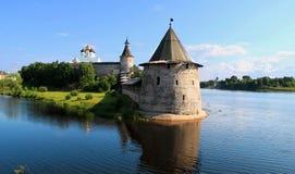 Fortificazione a Pskov Immagine Stock