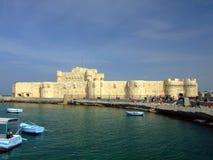 Fortificazione Qaitbey a Alessandria fotografie stock libere da diritti