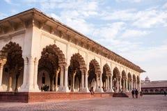 Fortificazione rossa a Agra Fotografia Stock Libera da Diritti
