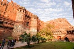 Fortificazione rossa a Agra Immagine Stock