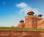 Fortificazione rossa a Delhi, India Fotografia Stock Libera da Diritti