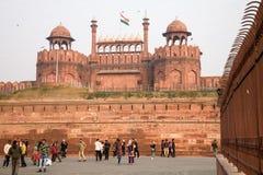 Fortificazione rossa, Delhi, India fotografie stock libere da diritti