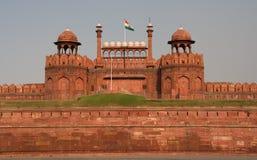 Fortificazione rossa Delhi, India del cancello di fronte di Lahore Fotografie Stock Libere da Diritti