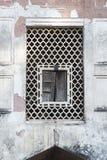 Fortificazione rossa della finestra, Dehli, India Fotografie Stock Libere da Diritti