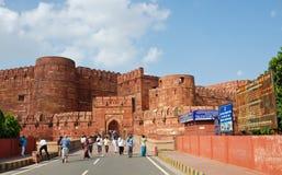 Fortificazione rossa di Agra, India fotografie stock libere da diritti