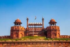 Fortificazione rossa India fotografia stock