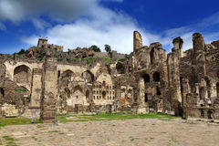 Fortificazione storica di Golkonda Immagine Stock