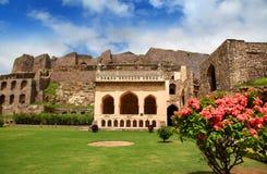 Fortificazione storica di Golkonda Fotografia Stock