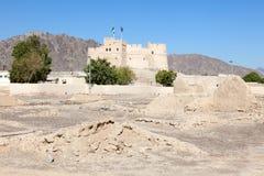 Fortificazione storica in Fujairah Fotografia Stock Libera da Diritti