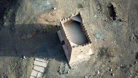 Fortificazione uae Emirati Arabi Uniti Dubai del fujaiarh della grandine di Al una storia fotografia stock libera da diritti
