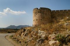 Fortificazione veneziana a Aptera Fotografie Stock