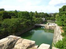 Fortificazioni del castello giapponese tradizionale a Kyoto Immagine Stock