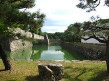 Fortificazioni del castello giapponese tradizionale a Kyoto Immagini Stock
