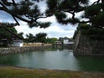 Fortificazioni del castello giapponese tradizionale a Kyoto Immagine Stock Libera da Diritti