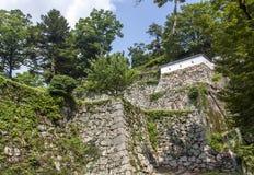 Fortificazioni del castello a Okayama, Giappone Immagini Stock
