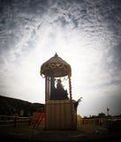 Fortificazioni della fortificazione e dell'interno di Raigad Fotografie Stock
