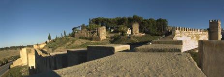 Fortificazioni della mussola di Badajoz fotografie stock libere da diritti