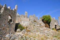 Fortificazioni delle rovine di Cirella, Cosenza, Calabria Fotografia Stock