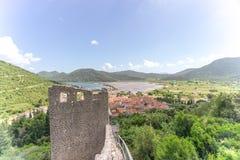 Fortificazioni di Ston Fotografia Stock