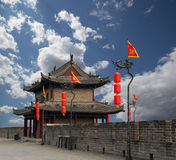 Fortificazioni di Xian (Sian, Xi'an) una capitale antica della Cina Immagine Stock Libera da Diritti