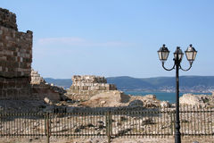 Fortificazioni in Nessebar Fotografie Stock