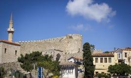 Fortificazioni storiche e case di pietra Fotografie Stock Libere da Diritti
