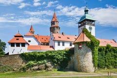 Fortifichi Bouzov, la regione del sud della Moravia, repubblica Ceca Immagini Stock Libere da Diritti