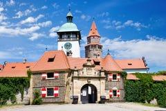 Fortifichi Bouzov, la regione del sud della Moravia, repubblica Ceca fotografie stock