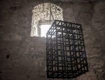 Fortifichi il hrad interno Slova di Spissky del castello di Zipser della camera di tortura Immagini Stock