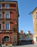 Fortifichi il quadrato a Varsavia, Polonia - orologio Fotografia Stock Libera da Diritti