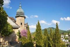 Fortifichi il terrazzo di nuovo castello in Baden-Baden Fotografia Stock Libera da Diritti