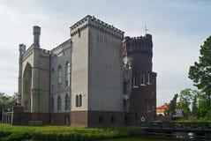 Fortifichi la residenza di Kornik della maggior parte della signora polacca famosa di bianco del fantasma fotografie stock