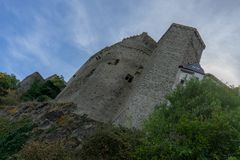 Fortifichi Runkel nel villaggio tedesco chiamato Runkel Immagine Stock Libera da Diritti
