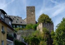 Fortifichi Runkel nel villaggio tedesco chiamato Runkel Fotografia Stock Libera da Diritti