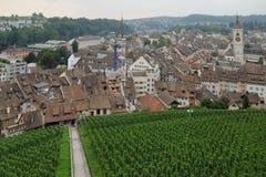 Fortifiction de Munot Schaffhausen, Suiza foto de archivo
