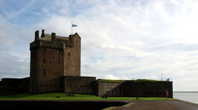 Fortified castle in Dundee. A small coastal fortification in the Scottish Dundee Stock Image