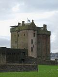 Fortified castle in Dundee. A small coastal fortification in the Scottish Dundee Stock Photo