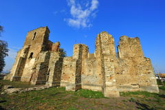Fortified catholic church ruins Royalty Free Stock Image