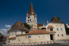 Fortified Church. Near Hermannstadt, Romania royalty free stock photos