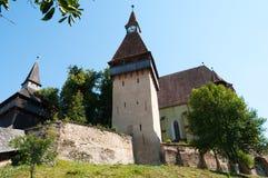 Fortified Church. In Biertan (Birthälm), Romania Royalty Free Stock Photo
