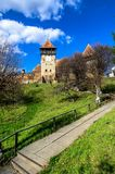 Fortified Church of Alma Vii Royalty Free Stock Images