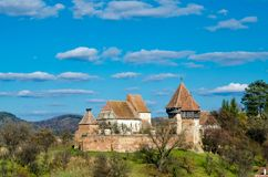 Fortified Church of Alma Vii Stock Photography