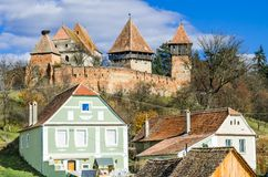 Fortified Church of Alma Vii Royalty Free Stock Image
