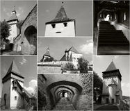 Fortified Church - Biertan collage Royalty Free Stock Photography