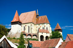 Fortified church in Biertan, Romania Stock Photos