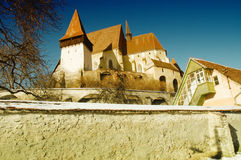 Fortified church of Biertan, Transylvania, Romania stock photo