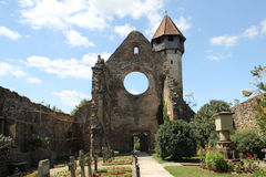 Fortified church at Cârța, Romania Royalty Free Stock Image