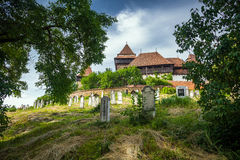 Fortified Church cemetery at Viscri in Transylvania Stock Photos